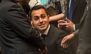 Luigi Di Maio, who is likely to lead the M5S into the next general election