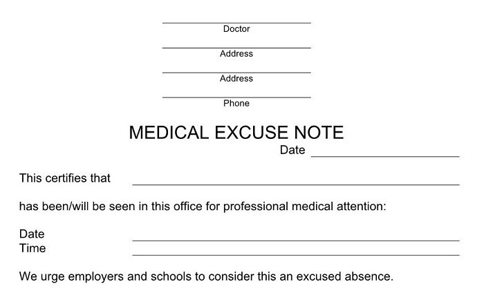 Blank doctors note, Doctor notes for work, Doctor's note templates, Doctors report template, Free doctors note,