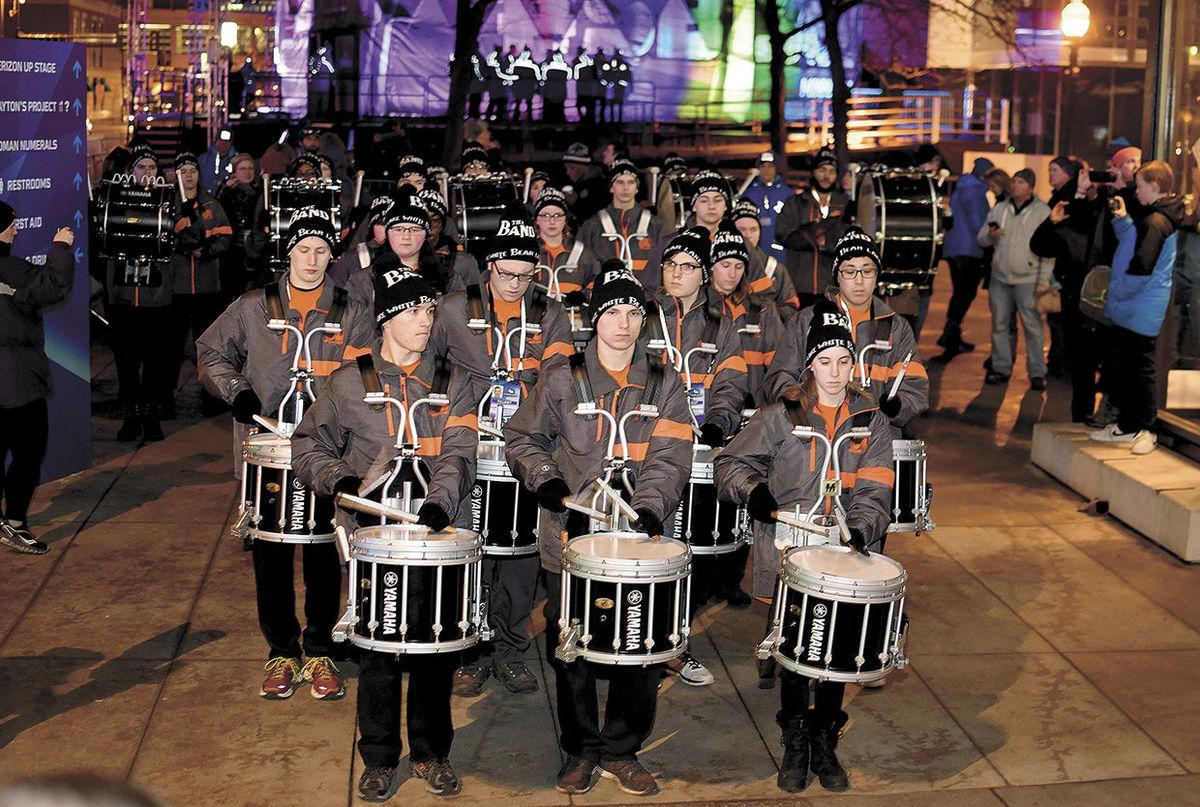 Drumline helps kick off Super Bowl Live event