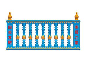 云南昆明罗马柱模具蓝色现浇花…