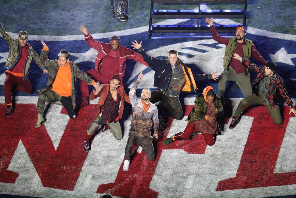 Justin Timberlake performs at the Super Bowl hafltime show at U.S. Bank Stadium in Minneapolis.