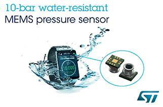 意法半导体发布同级领先的防水压力传感器