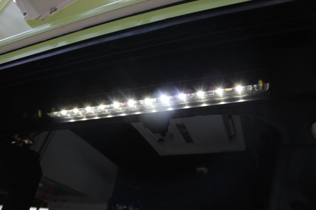 LED lighting on electric buses