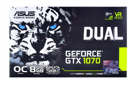 ASUS GeForce GTX 1070 Dual box front