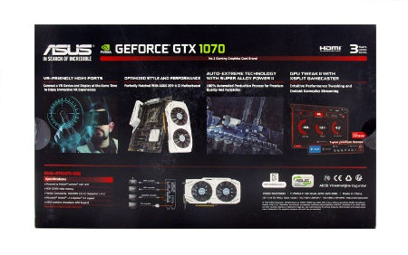ASUS GeForce GTX 1070 Dual box back