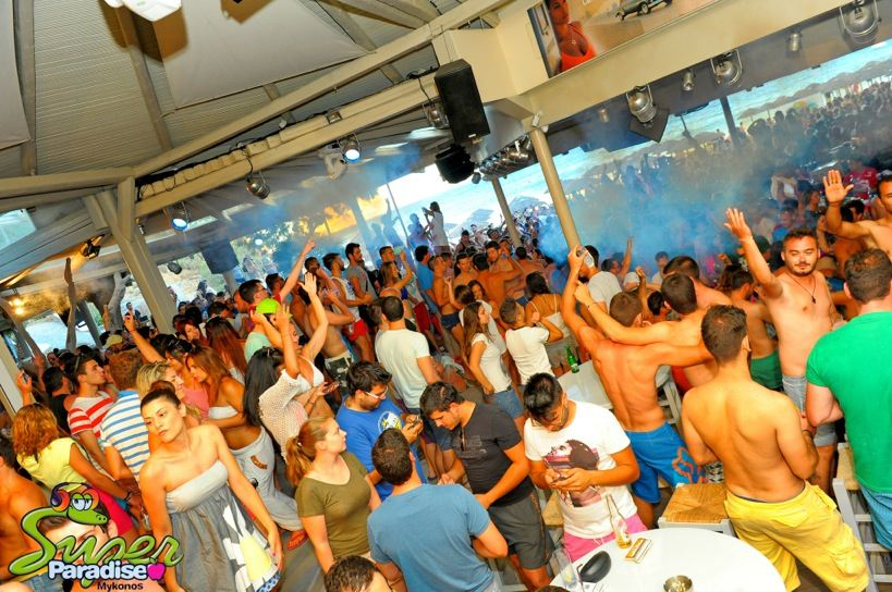super paradise mykonos beach bar