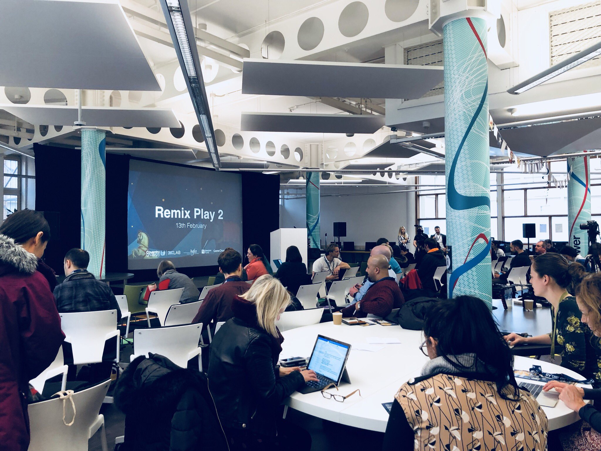 We're all geared up for #RemixPlay2. Join us on the top floor of @CovUniLibrary for a day filled with playfulness and fun! #gchangers #disruptedu https://t.co/lnUECNs98m