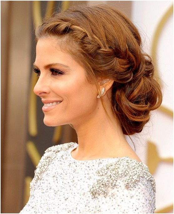 Gorgeous looking low bun hairstyle for prom or wedding