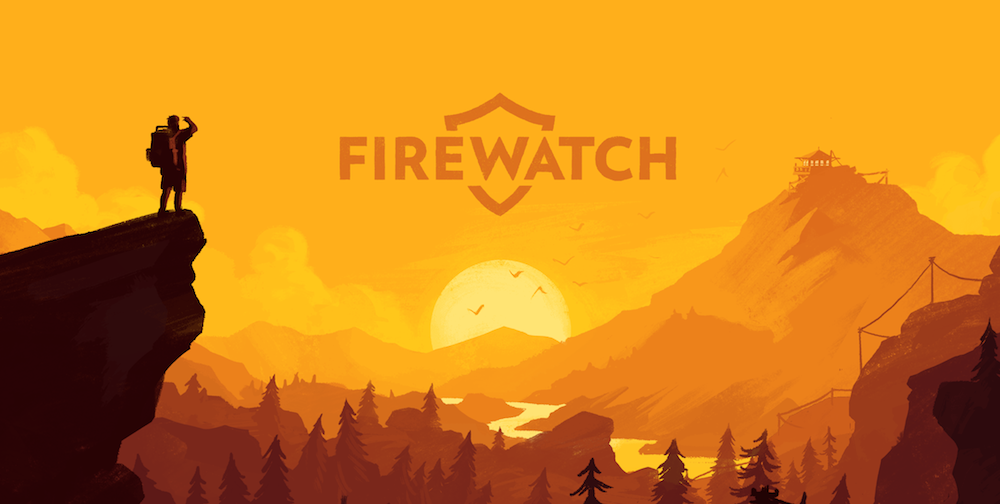 Illustration for the game 'Firewatch' by Olly Moss