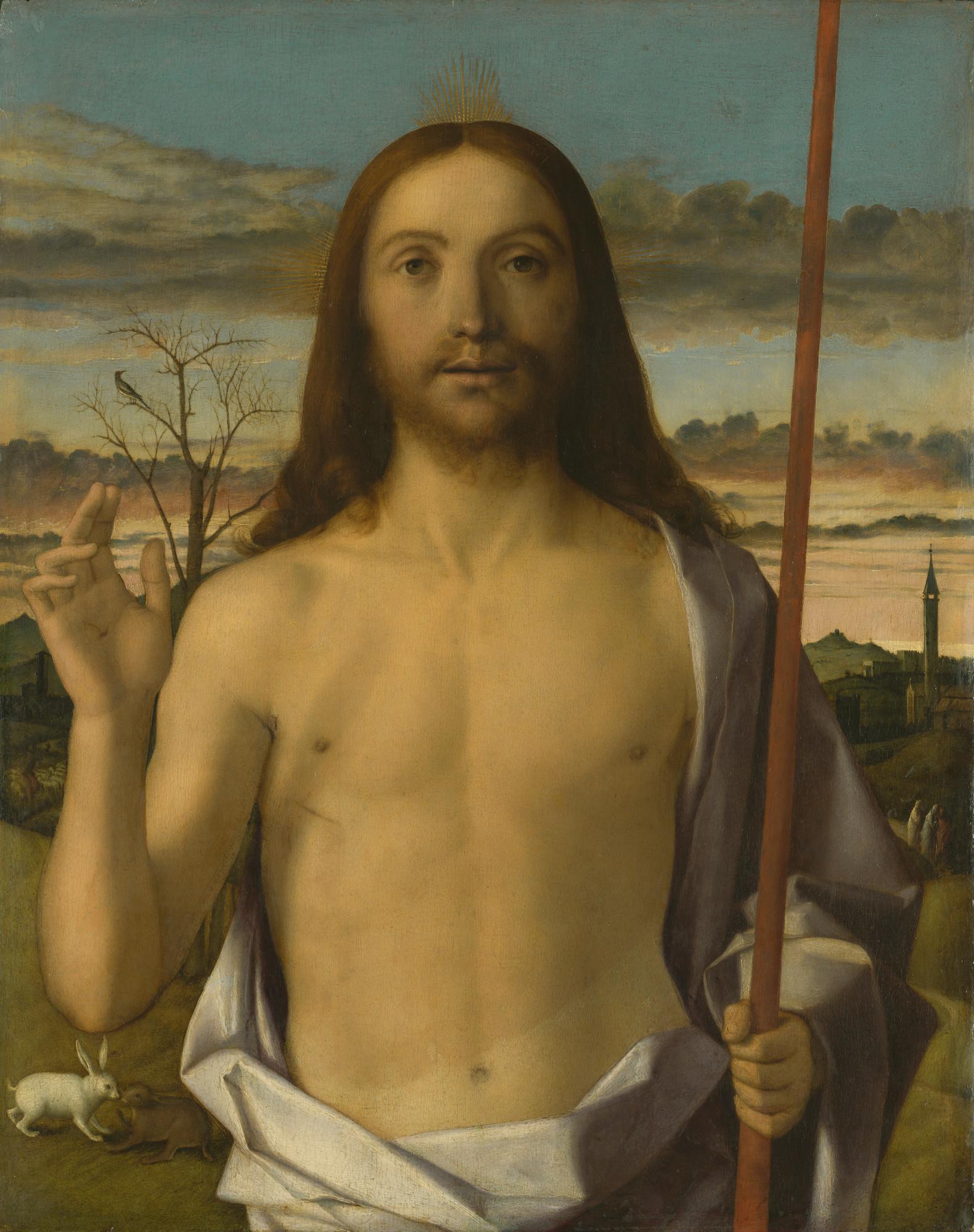 """Giovanni Bellini, """"Christ Blessing,"""" circa 1500."""