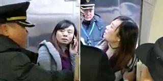 女子撒泼阻拦高铁发车:我老公还没上车