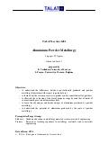 TALAT Lecture 1401: Aluminium Powder Metallurgy