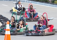 Candidates Meet Halfway for Go-Karts and Conversation