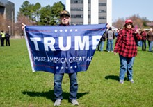 Photographs of the Rally to Support President Trump