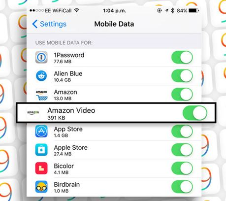toogle mobile data