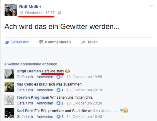 Posting von Rolf 2 Tage vor dem Konzert