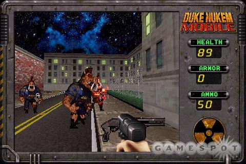 Duke Nukem may not run as fast as Doom II does on the Zodiac, but it looks a heck of a lot better.