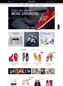 Woocommerce Responsive Wordpress Theme - Sneaker
