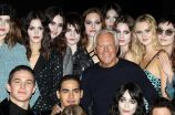 Giorgio ArmaniEmporio Armani - Runway - Milan Fashion Week FW 18/19, Italy - 25 Feb 2018Italian designer Giorgio Armani (C) poses with models at the end of the show by label Emporio Armani during the Milan Fashion Week, in Milan, Italy, 25 February 2018. The Fall-Winter 2018/2019 Women's collections are presented at the Milano Moda Donna from 20 to 26 February.