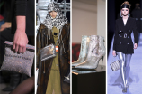 Silver emerged as the dominant metal at New York Fashion Week, sometimes it came in a sparkled sequined gloss, like the evening bags at Alexander Wang, and sometimes it was a straightforward metallic like the booties at Paul Andrew. Shown here are Alexander Wang, Calvin Klein, Paul Andrew and Tom Ford.