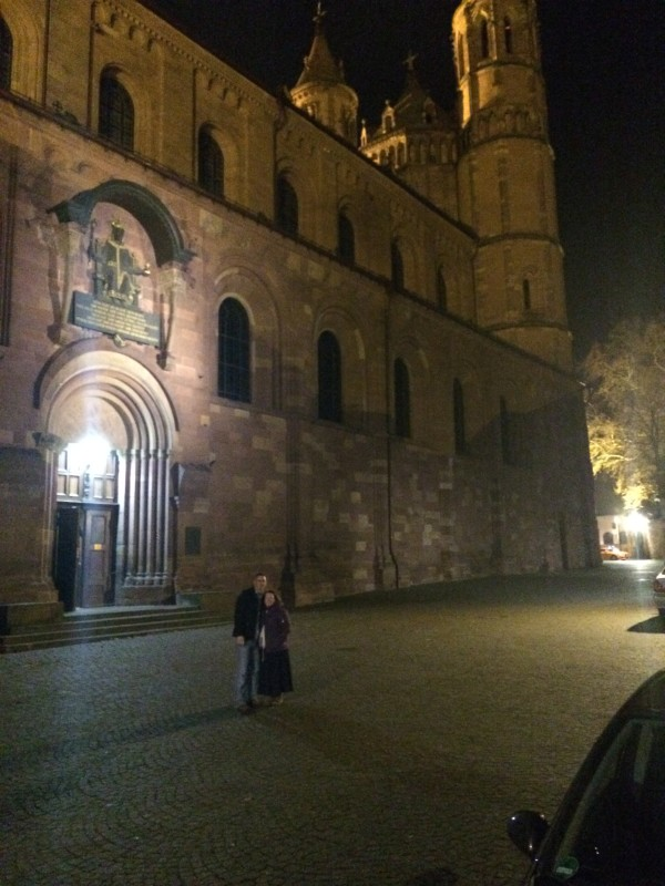 Ben and I: Johannes Gutenberg Cathedral