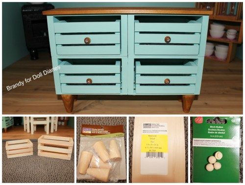 dollhouse credenza supplies