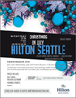 Hilton Seattle Invites All to Christmas in July Party to Launch their Upcoming Holiday Party Booking Incentives
