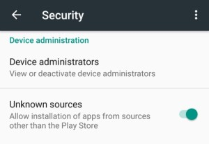 Turn On Unknown Sources on Android