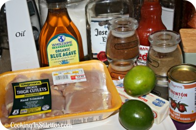 Grilled Ancho Tequila Chicken - Ingredients