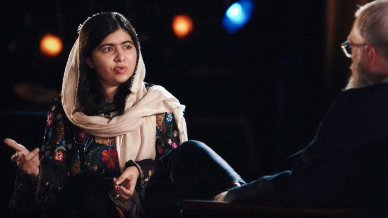 In a new episode of 'My Next Guest Needs No Introduction,' the talk-show host teases out details about Yousafzai's activism and life as a college student.