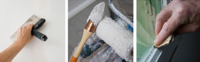 Indoor & outdoor painting services including surface preparation and repairs