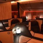 The airline hired architect and designer Ray Chen to help create the cabin's look, which draws from traditional Taiwanese design and modern elements.