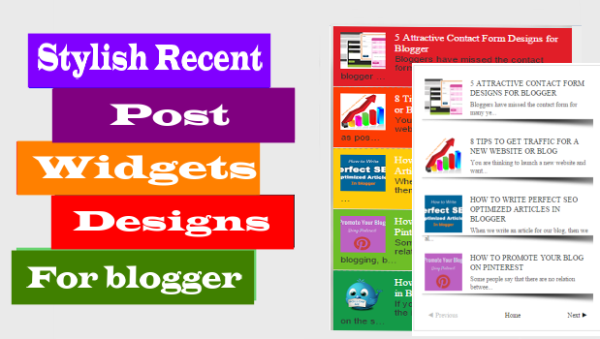 6 Stylish Recent Post Widgets Design for Blogger