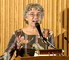 Jane Peppler speaks at the Library of Congress