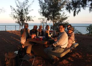Bush Breakfast Dudley Point, start of the 'Best of Top End Birding' tour  (photo copyright Mike Jarvis)