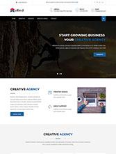 扁平化设计企业网站模板