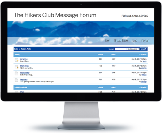 Embeddable Messages Forums for your Website