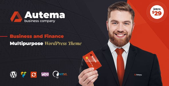 Autema - Quick Loans, Bitcoin, Business Coach and Finance Consulting WordPress Theme