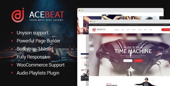 AceBeat - DJ Personal Page WordPress Theme