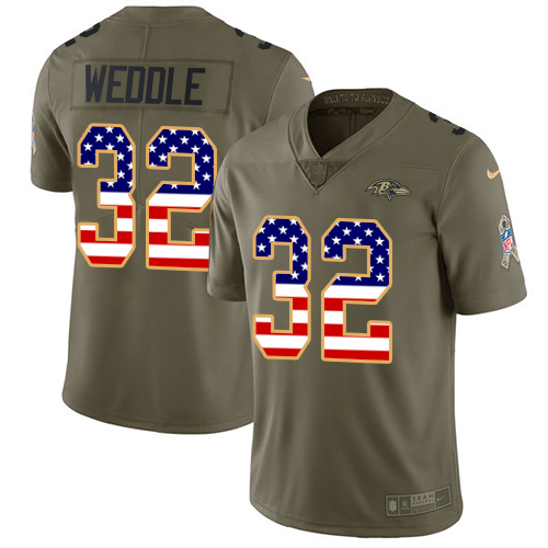 Men's Eric Weddle Camo Limited Football Jersey: Baltimore Ravens #32 Rush Realtree  Jersey
