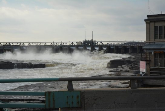 A ring dam, operated by Hydro Ottawa, harnesses the power of the Chaudiere Falls in Ottawa.