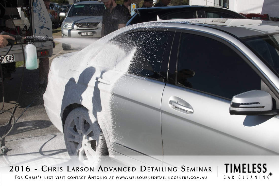 car detailing demonstration