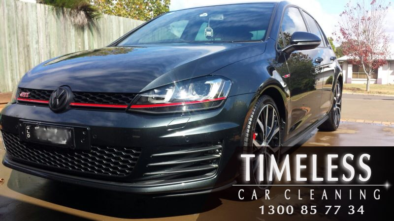 VW Golf GTi with a glossy finish after a wax