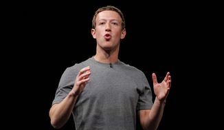 In this Sunday, Feb. 21, 2016, file photo, Facebook CEO Mark Zuckerberg speaks during the Samsung Galaxy Unpacked 2016 event on the eve of this week's Mobile World Congress wireless show, in Barcelona, Spain. (AP Photo/Manu Fernandez, File)