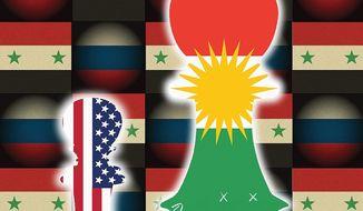Illustration on Syrian strategic choices by Linas Garsys/The Washington Times