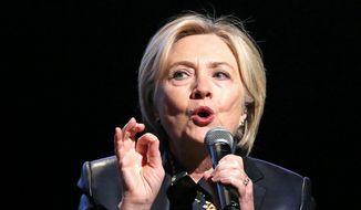 Hillary Clinton. (Associated Press) ** FILE **