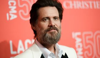 Jim Carrey arrives at LACMA's 50th Anniversary Gala in Los Angeles, April 18, 2015. (Photo by Richard Shotwell/Invision/AP) ** FILE **