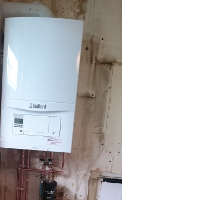 New condensing combination boiler installed