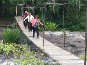 Wooden bridge at the Galapita Rocks Eco Lodge