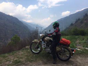 Riding towards the Bhutanese border